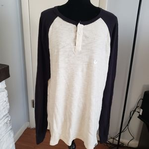 Aeropostale black and cream thermal top. Size XL